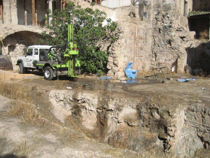 sondeo en parcelas con restos arqueológicos